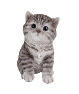 "Animal Collection Life Size Grey Tabby Kitten Figurine Statue 6 5/8""Tall - $19.79"