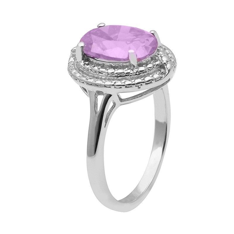 Amazing !! Purple Cubic Zirconia 925 Sterling Silver Ring Jewelry Sz-9 SHRI1465