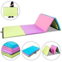 "Portable Gymnastics Mat 4' X 10' 2"" Multicolor Folding Exercise Gym Yoga... - $124.99"