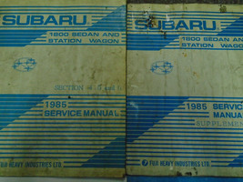 1985 Subaru 1800 Sedan Station Wagon Service Repair Manual Set Incomplete OEM - $36.58