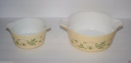 Vintage PYREX Shenandoah Casserole Dishes 473 and 475, 80's - $24.57