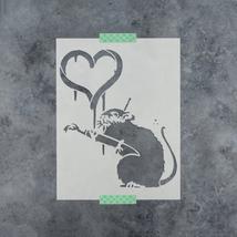 Banksy Love Rat Stencil - Durable & Reusable Mylar Stencils - $5.99+