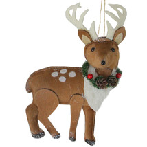 Brown and White Spotted Stuffed Deer with Antlers Christmas Ornament - tkcc - $25.95