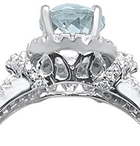 1.42cts 10k White Gold Oval Green Amethyst Diamond Ring  image 4