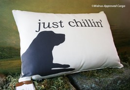 Pottery Barn Chill Dog Lumbar Pillow -NWT- Curl Up In Comfort Indoors Or Out - $59.95