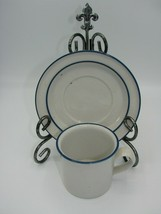 Individual Flat Cup & Saucer Set Blue Mist by DANSK Height 3 in Width 3 3/8 in  - $15.88