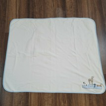 """Gymboree 2004 Blue/Ivory/Brown """"Best In Show"""" Dog Reversible Blanket 29x34 - $27.71"""