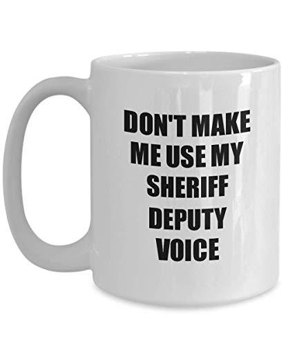 Primary image for Sheriff Deputy Mug Coworker Gift Idea Funny Gag for Job Coffee Tea Cup 15 oz