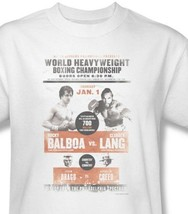 Rocky Fight Poster T-shirt 80's retro classic movie printed cotton tee MGM117 image 1
