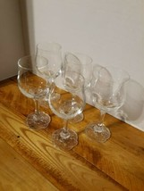 Set Of 5 Crystal Rosenthal Classic Germany wine glasses/ Beautiful details  - $57.97