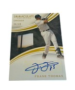 Frank Thomas Auto Patch Pin Stripe Immaculate /49 White Sox Autograph HO... - $395.95