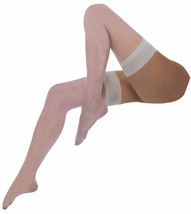 Womens Sexy 10 Den Stay Up Silicone Vintage Thigh High Satin Smooth Top ... - $9.99