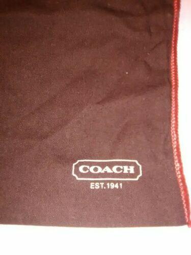 "COACH Genuine Brown COTTON DRAWSTRING DUST SHOE STORAGE BAG MEDIUM 14"" x 11"""