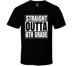 Straight Outta 6th Grade School Cool Compton Style Kids T Shirt - $19.99