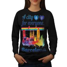 Gay Pride Love Barcelona Jumper Spain City Women Sweatshirt - $18.99