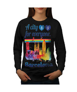 Gay Pride Love Barcelona Jumper Spain City Women Sweatshirt - $18.99