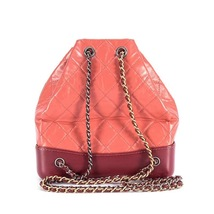 BRAND NEW AUTH 2018 Chanel Pink Gabrielle Quilted Leather Bucket Bag GHW  image 5