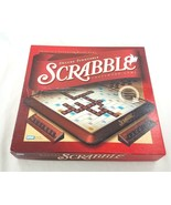 Deluxe Turntable Scrabble Crossword Game Parker Brothers 2001 Burgundy T... - $39.48