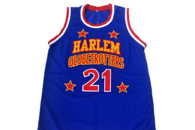 Kevin Special K #21 Harlem Globetrotters Men Basketball Jersey Blue Any Size