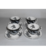 Royal Albert Night and Day Black and White Bone China Cups & Saucers (4) - $37.00