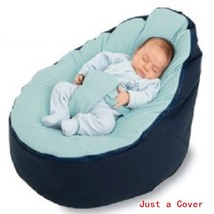 Just a Cover Baby Feeding Chair Portable Baby Pouf with Belt Harness Saf... - $38.90