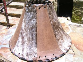 Western Leather Cowhide Lamp Shade 0133 bz - $169.98