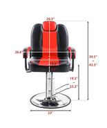 Recline Barber chair for Beauty Salons Hair Salon Tattoo Shop Equipment - $256.57