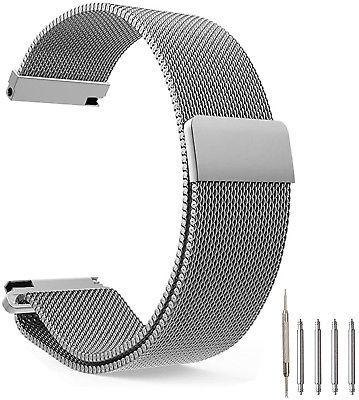 Top Plaza Fully Magnetic Closure Clasp Mesh Loop Milanese Stainless Steel Metal - $33.37