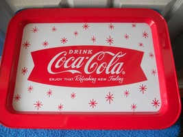 "NWT DRINK COCA COLA COKE TIN PLATTER 17"" X 12.5"" NEW CUTE - $12.55"