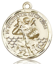 ST. CHRISTOPHER MEDAL - 14KT Medal - NO CHAIN - 0036C - $924.99