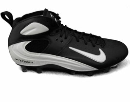 Nike Air Zoom Blade Pro TD Men's Molded Football / Lacrosse Cleats (Black/White) - $31.96