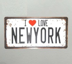 Vintage License Plate Wall Plaques Poster Art Metal Sign Outdoor Home De... - $13.09