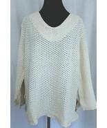 Arte Collecion Cream Knit Sweater Size Med - $38.36