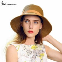 Sedancasesa® Woman Beach Hats Floppy Wide Brim Foldable Straw Sun Hats F... - $24.85