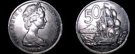 1967 New Zealand 50 Cents World Coin - Elizabeth II - Endeavour - $5.99