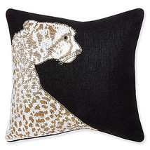 "Jonathan Adler Hand Beaded Throw Pillow - Animalia Leopard 16"" x 16"" - $266.48"