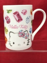 Sanrio Hello Kitty 2006 Coffee Mug Cup with Gems Diamonds Emeralds - $22.27