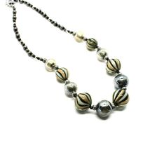 Necklace Antica Murrina Venezia with Murano Glass Gray Military Green COA3A32 image 6
