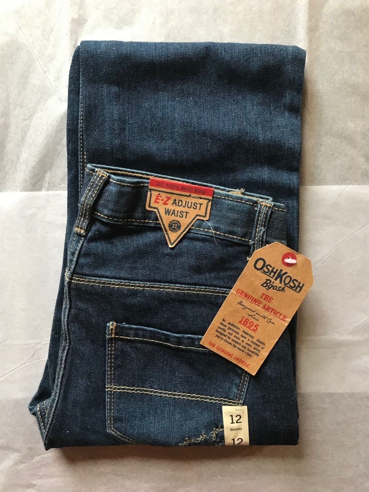 Primary image for Osh Kosh Girl's Skinny Blue Jeans Size 12