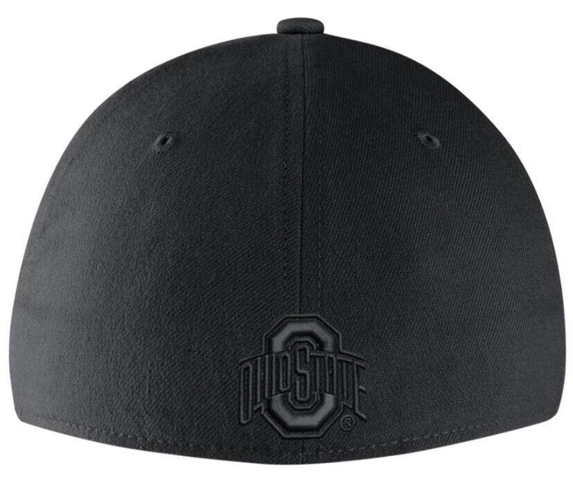 Ohio State Buckeyes Nike Black On Black Tonal L/XL Flexfit Fitted Cap Hat
