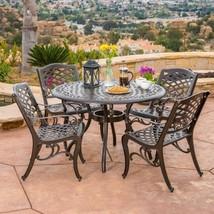 Set of 5 Pcs Dining Furniture Covington Cast Aluminum Garden Patio Balcony  - £598.79 GBP