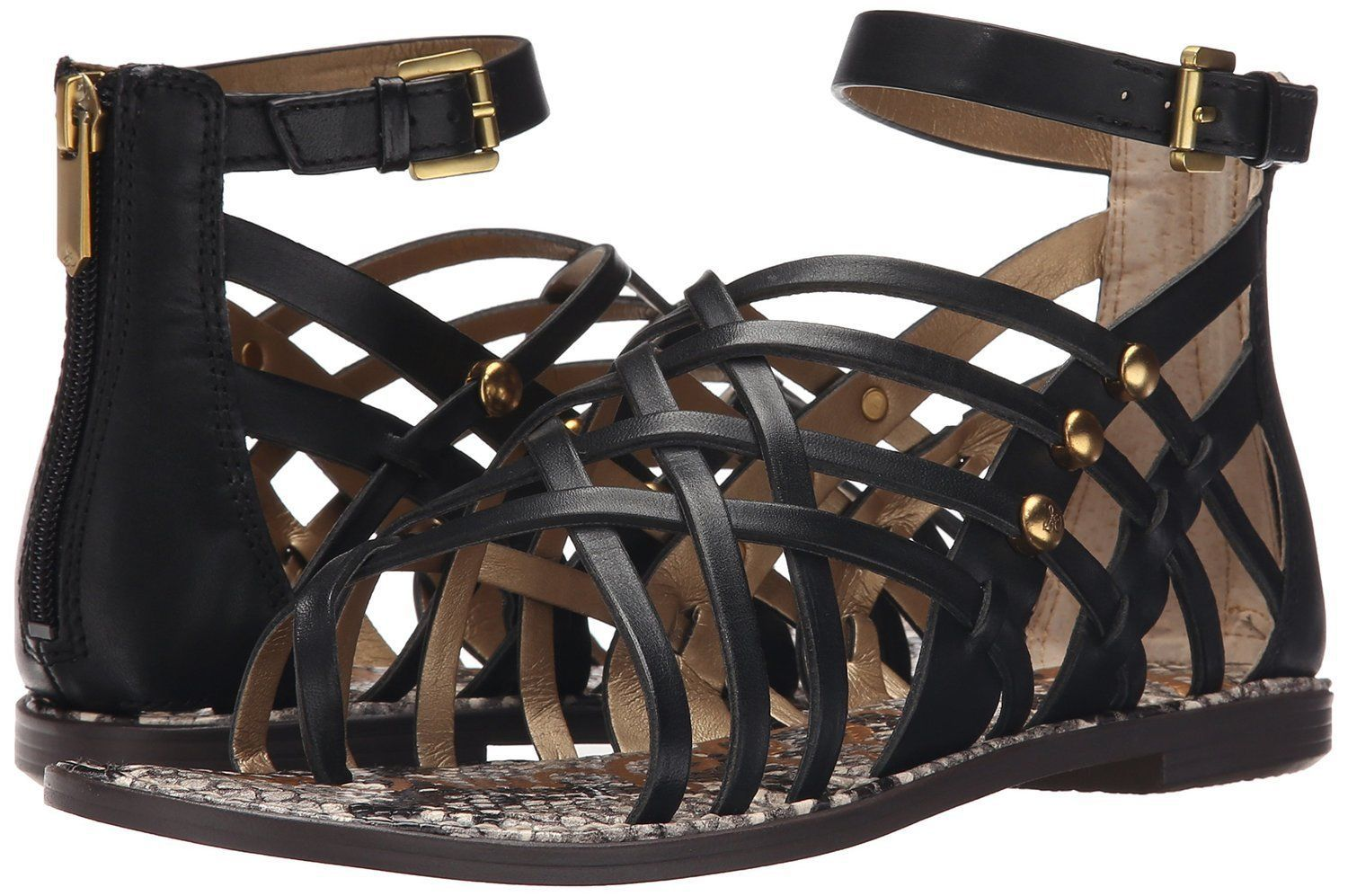 Primary image for Sam Edelman Gardener Gladiator Sandal, Sizes 5-9.5 Black Leather E2533L3001