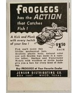 1949 Print Ad Froglegs Fishing Lures Jenson Distributing Co. Waco,TX - $9.27