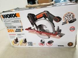 "WORX WX530L ExacTrack 20V PowerShare 6-1/2"" Cordless Circular Saw - $68.35"
