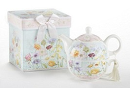 """Delton Product Porcelain Tea for One in Gift Box Wildflower 5.8"""" Inches - $27.74"""