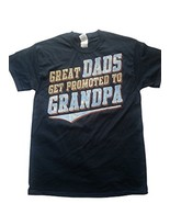 GILDAN GREAT DAD'S GET PROMOTED TO GRANDPA BLUE MEN'S T-SHIRT NEW - $7.97