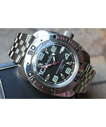 Russian Mechanical Automatic Wrist Watch VOSTOK AMPHIBIAN DIVER 710334 - $70.56