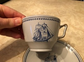 Spode TRADE WINDS BLUE Canton Cup & Saucer W146 discontinued tea coffee set - $24.74