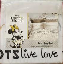 Jay Franco Disney Minnie Mouse Gold Dots Twin Sheet Set. NEW - $38.99