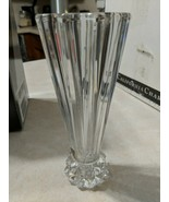 """Rosenthal 10"""" Crystal Blossom Flower Vase Tall Heavy candle stick - $55.74"""